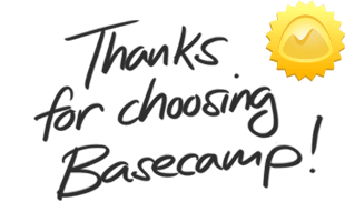 Thanks for choosing Basecamp Classic